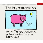 Finding happiness in a pig's smile