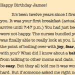 The twelfth breakfast – a birthday letter to my son