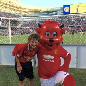 James with Fred the Red